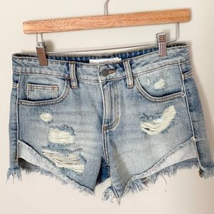 Hidden Distressed Cutoff Riley Boyfriend Short